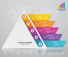 Business pyramid infographic elements vector