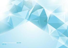 Abstract blue background. Geometric concept vector