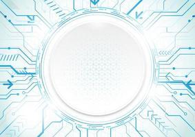 Technologie abstraite fond bleu conception de puce moderne