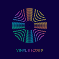 Colorful Lines Vinyl Record Vector Poster