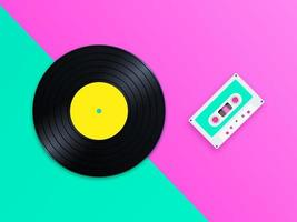 Old School Music Pop Vector Bakgrund