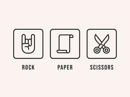 Rock Paper Scissors Ikoner