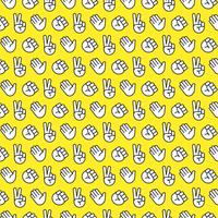 rock paper scissors seamless pattern