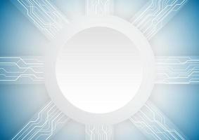 Fond de technologie abstraite. Espace de forme de cercle pour votre texte