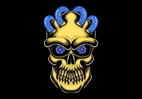 skull head gold vector