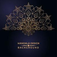 Golden Mandala Star Design