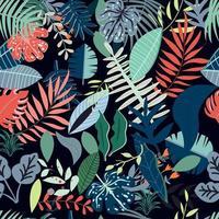 Seamless pattern di foglie colorate