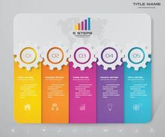 Zakelijke versnellingen infographic sjabloon