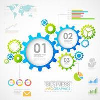 Industriële infographics grafiek