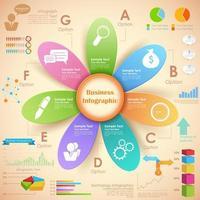 Bloem zakelijke infographics grafiek