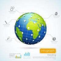 World Business Infographics Chart vector