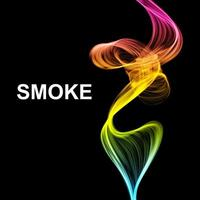 Abstract futuristic colorful smoke background vector