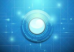 Abstract technology blue background. Modern circle design vector