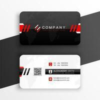professional elegant rounded corner business card vector