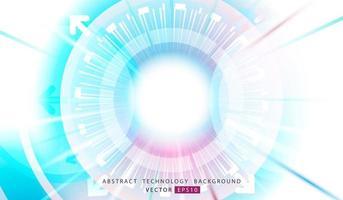 Fond de technologie abstraite. Concept géométrique et circulaire. conception de vecteur