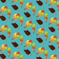 Ice creams and popsicle background pattern