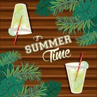 Cartaz e cartão de horário de verão