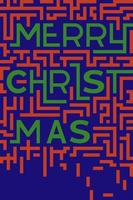Merry Christmas typography in flat style