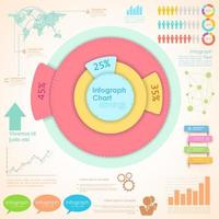 Modern business infographics options chart and elements