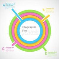Modern business infographics options chart