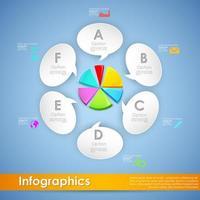 Moderne zakelijke cirkeldiagram infographics