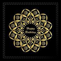 Joyeux anniversaire Mandala Design