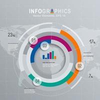 Cirkulär uppsättning för modern affärsinfografik