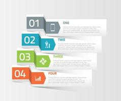 Business infographics banner elements vector