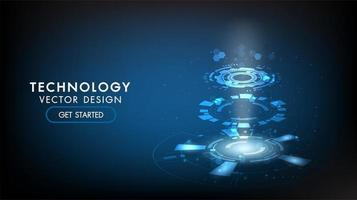 Abstract technology background Hi-tech communication concept technology