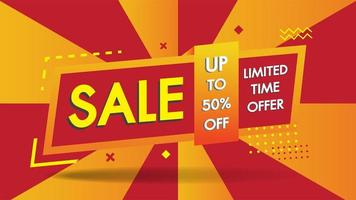 Sale banner template with special sale
