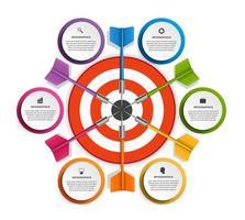 Ziel mit Pfeil für Geschäftspräsentationen oder Informationsfahne vektor