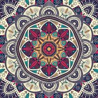 Mandala floral ornemental coloré