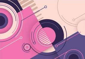 Music cover with pink color retro background vector