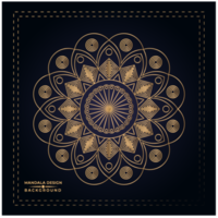 Floral Golden Mandala Background Design