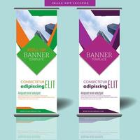 Roll Up Banner mit Rautenform