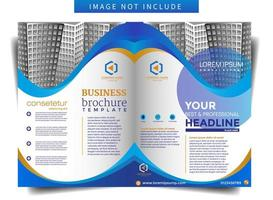 Business Brochure Template with Curved Shape Theme