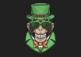 Monkey Head St. patrick's day design