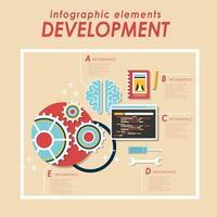 Web development infographic elements vector