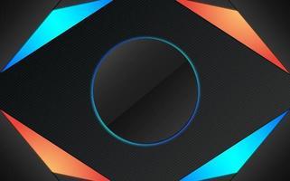 Black futuristic wallpaper gaming  vector