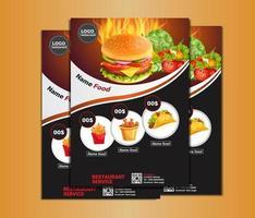 Plantilla de menú de folleto de alimentos vector
