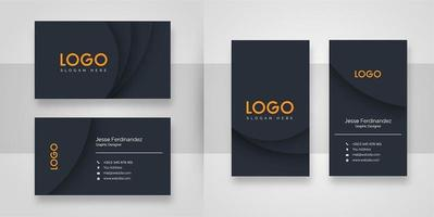 Abstract Dark Shape Business Card Template