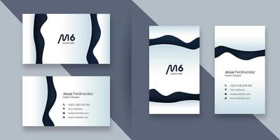 Abstract white and grey color paper cut business card template