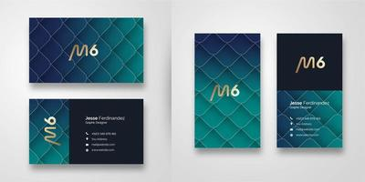 Abstract Green Gradient Business Card Template