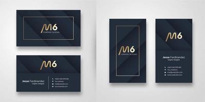 Modern Dark  Shape Business Card Template