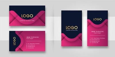Modern Pink Shape Business Card Template