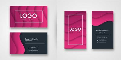 Abstract Pink Shape Business Card Template
