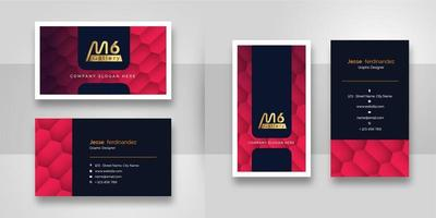 Abstract Red Gradient Business Card Template