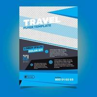 Företagsreklambladdesign med diagonal design