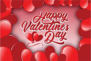 Plantilla de San Valentín vector