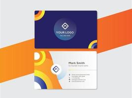 modern corporate business name card design with circle shapes vector